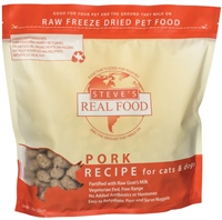 Steve's Real Food Freeze Dried Pork Diet for dogs and cats 1.25 lbs