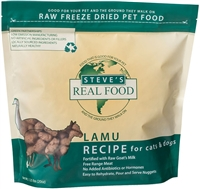 Steve's Real Food Freeze Dried Lamu Diet for dogs and cats  1.25 lbs