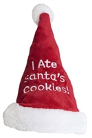 Outward Hound Santa I Ate Cookies Hat Small Dog
