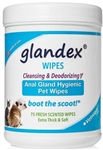 GLANDEX  ANAL GLAND PET WIPES 75 count
