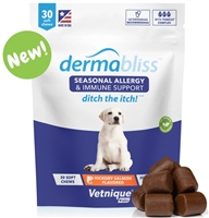 "VETNIQUE LABS Dermablissâ""¢ Allergy & Immune Soft Chews for Dogs - 30 Chews"