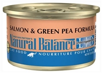 Natural Balance Limited Ingredient Diets Salmon & Green Pea Canned Cat Food 24 - 3 oz.