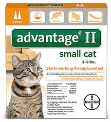 Advantage® II for Small 5-9 lbs Cats 1 dose