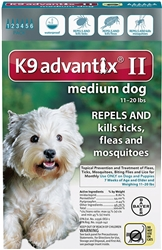 Bayer K9 Advantix® II 11-20 LB TEAL 6 PACK
