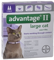 Advantage® II for Large, over 9 lbs Cats 2 dose