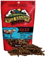 Wild Meadow Farms Classic Jerky Beef Mini Treats for Dogs 4 oz