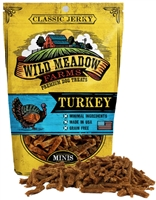 Wild Meadow Farms Classic Jerky Turkey Mini Treats for Dogs 4 oz