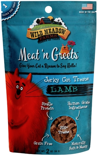Wild Meadow Farms - Meat 'N Greets LAMB Treats for Cats 2 oz