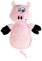 GoDog Hear Doggy! Flattie Pig Large Dog Toy