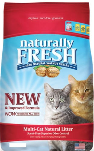 Naturally Fresh Walnut-Based Multi-Cat Quick-Clumping Cat Litter 26 lbs
