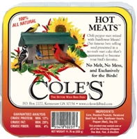 Cole's Wild Bird Feed Hot Meats  Suet Cake