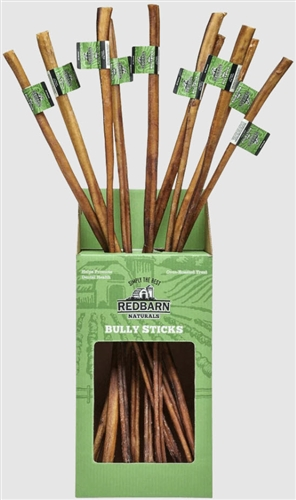 "REDBARN Natural Bully Stick 30"" - 25 Count Case"