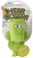 HEAR DOGGY! Mini Flattie Gator with Chew Guard and Silent Squeak Technology  Dog Toy