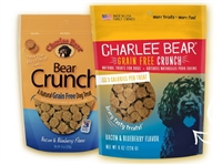 Charlee Bear Grain Free Crunchy Treat Bacon and Blueberry 8 oz