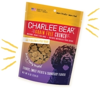 Charlee Bear Turkey, Sweet Potato & Cranberry Crunch Treats 8 oz