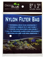 "Deep Blue Nylon Filter Media bag with drawstring 8"" X 3"""