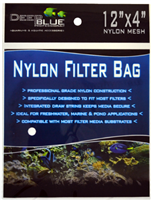Deep Blue Nylon Filter Media bag with drawstring