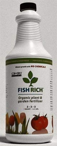 Fish Rich Organic Plant & Garden Fertilizer 2-2-2   1 quart