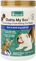 NaturVet Outta My Box Soft Chew Dog Stool, 13.2 oz 500 soft chews