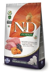 Farmina Natural & Delicious Grain-Free Pumpkin Lamb & Blueberry Puppy Medium & Maxi 26.4 LB