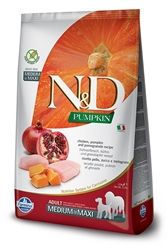 Farmina Natural & Delicious Grain-Free Pumpkin Chicken & Pomegranate Adult Dog Medium & Maxi 26.4 lb