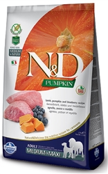 Farmina Pet Foods - Dog food - N&D Pumpkin Grain-Free Canine - Lamb & Blueberry Adult Medium & Maxi