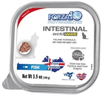 FORZA10 ACTIVE-WET CAT INTESTINAL FISH 32 - 3.5 OZ  trays