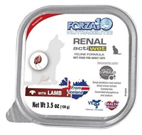 FORZA10 KIDNEY RENAL ACTIWET WITH LAMB CAT FOOD 32-3.5oz CASE
