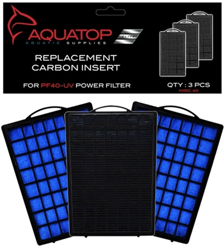 AQUATOP Filter Cartridge for PF40-UV, 3pk