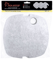 AQUATOP Replacement Pads for CF300, 3 PC Fine, RFP-CF300