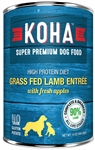 KOHA Pet Food LAMB Dog Food Entree 13.2 oz