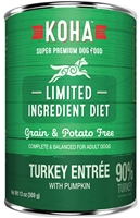 KOHA Pet Food Limited Ingredient Diet Turkey Entrée for Dogs 13.2 oz