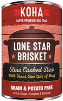 KOHA Pet Food Lone Star Brisket Slow Cooked Stew Beef Recipe for Dogs 13.2 oz
