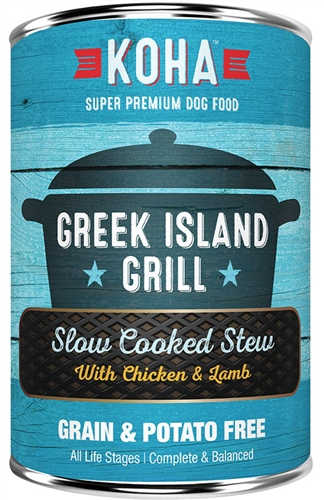 KOHA Pet Food Greek Island Grill Slow Cooked Stew Chicken and Lamb for Dogs 13.2 oz