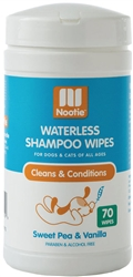 NOOTIE Waterless Shampoo Wipes Sweet Pea & Vanilla 70 count