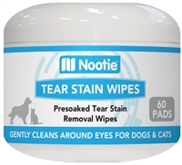 Nootie Tear Stain Wipes for Dogs & Cats – 60 Pads