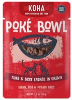 KOHA Poke Bowl Tuna & Beef Entree in Gravy  12-3 OZ