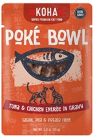 ​KOHA Poké Bowl Tuna & Chicken Entrée in Gravy For Adult Cats 12 - 3 oz pouches
