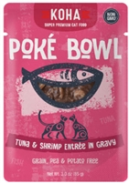 KOHA Poke Bowl Tuna & Shrimp Entree in Gravy  12-3 OZ