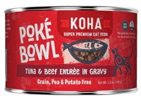 KOHA Poké Bowl Tuna & Beef Entrée in Gravy For Adult Cats  24-5.5 OZ