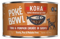 KOHA Poke Bowl Tuna & Pumpkin Entrée in Gravy For Adult Cats