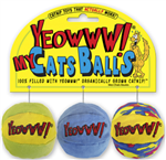 YEOWWW! CATNIP MY CATS BALLS CAT TOY