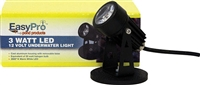 EASYPRO 3 watt LED Submersible spotlight - Warm White LED4WW