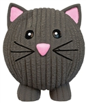 HUGGLEHOUNDS Latex Squeaky Ruff-Tex Black Cat Large Dog Toy