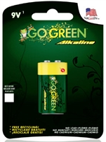 GoGreen Power 9V Alkaline Battery 1 pack