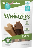 WHIMZEES MEDIUM LARGE PUPPY ALL NATURAL DAILY DENTAL,  14 COUNT