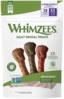 Whimzees BRUSHZEES Daily Extra Small  28 count