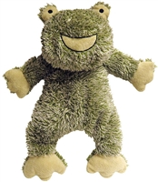 FABDOG Fluffy Frog Plush Toy with Fabtough SMALL