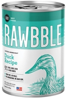 Bixbi Pet RAWBBLE Wet Dog Food Duck Recipe 12-12.5 oz cans
