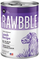 Bixbi Pet RAWBBLE Wet Dog Food LAMB Recipe 12-12.5OZ